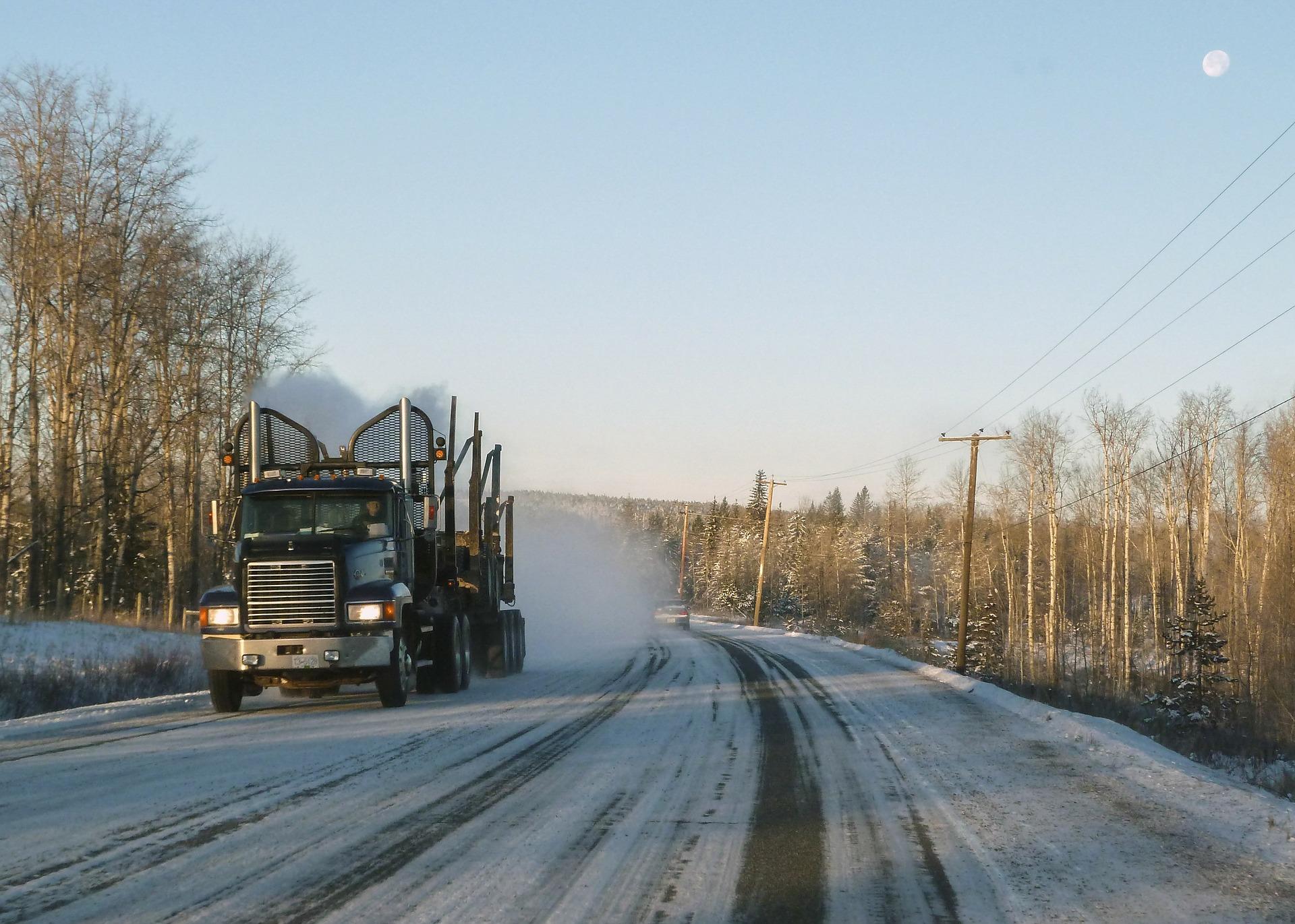 Winter Truck Driving